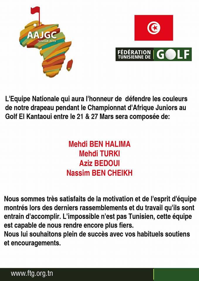 port el kantaoui golf tunisie le championnat d 39 afrique juniors 2016 au golf el kantaoui. Black Bedroom Furniture Sets. Home Design Ideas